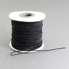 1 x Black Elastic Cord 10 Metre x 1mm Thong Cord