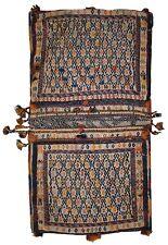 Tapis ancien Oriental fait main 55cm x 100cm 1940s - 1C399