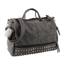 Bolso grande de cuero con tachuelas para mujer totalizador de señora moda