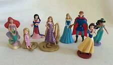 Disney Store Figurines Princess 8 pieces Ariel Rapunzel Mulan Aurora Snow White