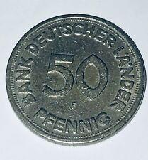 50 Pfennig Bank Deutscher Länder 1949 F