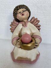 Großer Bozener Engel Thun Kerzenhalter, 19 cm hoch Deko Sammler Figur Italy