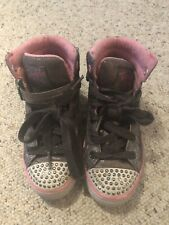 Skechers High Top Light Up Girls Sneakers Size 13