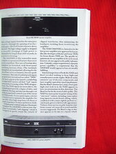 """Rotel RB-980BX, nad Monitor Series 2400THX Ampere Test Review """"Stereophile"""" 11/92"""
