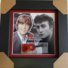John Lennon Miniature Framed Guitar The Beatles