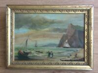 British 19th century framed painting seascape maritime scene by unknown artist