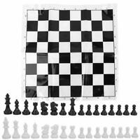 Portable Plastic International Chess Board Set Chessboard for Party Games Prop