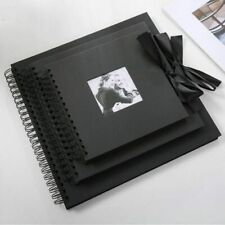 Creative 30 Black Pages Photo Albums 31x31cm Craft Paper Sticky DIY Scrapbooking