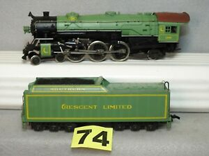 RIVAROSSI HO SCALE SOUTHERN CRESCENT LIMITED STEAM LOCOMOTIVE, READY TO RUN