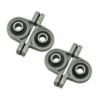 4Pcs KP08 8mm Diameter Pillow Block Mounted Ball Bearing Solid Base Zinc Alloy