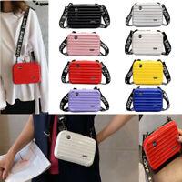 Women Ladies Handbag Hard Shell Cosmetic Bag kids Mini Box Suitcase Crossbody by