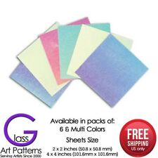 Dicro Slide Sample Set Hot Glass Supplies Use on Any COE Dichroic Fusible Paper