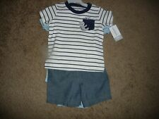 NEW NWT Carters boys size 18 months adorable 3 piece sloth short set