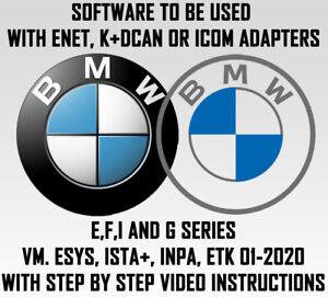 BMW diagnostic,coding and service Software. ESYS, ISTA+,INPA,ETK.VM PREINSTALLED