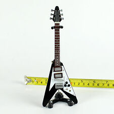 """TD57-09 Barbie Dolls Music Instrument Electric Guitar and Stand 6.7"""" (Black)"""