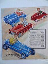 Ancien catalogue jouet Au bon marché Paris 1953 Jumeau Joustra Hornby Jouef Jep