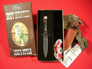 ⭐️ Vintage 1980 CASE XX BOOT HUNTER Knife P62-4 1/2 SS 10 DOT Sheath Garter Box