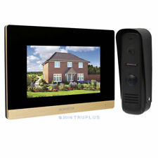7'' Video Door Intercom with Touch Screen Monitor Supports Electric Lock Release