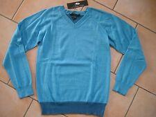 (H391) Little Marc Jacobs Girls V-Ausschnitt Pullover Petrol mit Kaschmir gr.152