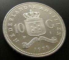 Niederlande 10 Gulden Silber 1978 Antillen Juliana Silver Ag 0,720  Art.001-034