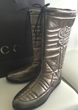 Gucci Women's Boots Winter Ski Snow GG Logo Gold Brown NEW Authentic  IT 36 US 6