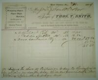 1874, WEST CHESTER, PA, BILL OF SALE, THOMAS SMITH, CHESTER COUNTY, ANTIQUE