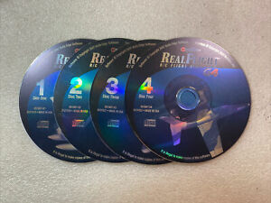 Real Flight R/C Flight Simulator G4 Software Only 4-Discs Only Excellent Cond.