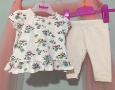 9218acbed02955 Baby Girls Designer Ted Baker Floral Bird Print Outfit Top & Leggings 0-3m🎀