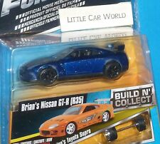 JADA TOYS Fast & Furious Brian's Nissan GT-R (R35) Blue Build N' Collect