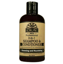 [OKAY] MEN PROFESSIONAL 2 IN 1 SHAMPOO & CONDITIONER 8OZ CLEANSING & NOURISHING