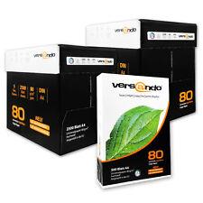 5000 Papier A4 versando high white 80g Kopierpapier Druckerpapier Tinte Fax weiß