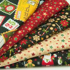 Magical Christmas Night - 100% Cotton Fabric - Fat Quarter Bundle - Remnants