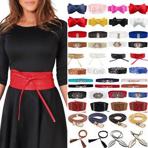 Women Ladies Girls Waist Belt Stretchy Elastic Cinch Corset Dress Wide Waistband