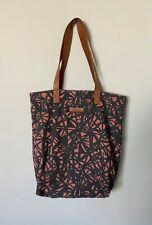 BECKSONDERGAARD Print Canvas Tote Shoulder Bag Leather Handles & Inner Pocket