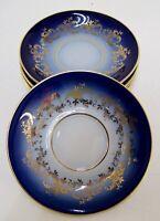 Untertassen Krone PM 6 Stück Kobalt Blau & Gold Ø ca. 12,5 cm