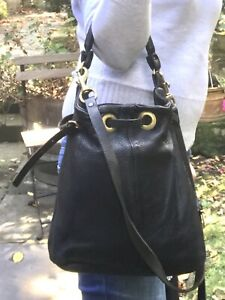 DEADLY PONIES  black Mid Size leather bag