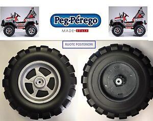 PEG PEREGO - 2 RUOTE POSTERIORI GAUCHO SILVER 12 VOLT SARP3513NGR -nuovo-Italia