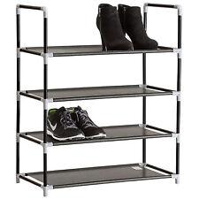 Étagères à chaussures armoire placard 4 niveaux meuble rangement chaussure noir