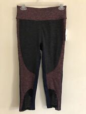 Free People Movement Dylan High Waist Mesh Leggings Coral/Midnight Combo Size S