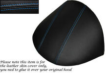 BLUE STITCH FITS MG MGF MG TF 1995-2005 DASH COWL HOOD LEATHER SKIN COVER ONLY