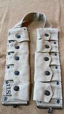 WWII US M1 GARAND RIFLE 10 POCKET AMMO BELT OD#3 KHAKI