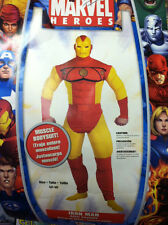 IRON MAN CLASSIC COMIC STYLE ADULT COSTUME LARGE(42-46) AVENGERS RARE DISGUISE