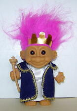 """Russ 4"""" Troll Doll King New In Bag Russ Sticker Complete Outfit Magenta Hair"""