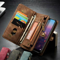 For Huawei Mate 20 P20 Pro Luxury Magnetic Flip Card Wallet Leather Case Cover
