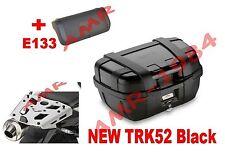 GIVI VALIGIA BAULE TRK52B BLACK + SRA3112 SUZUKI DL 650 V-STROM 2017 + E133S