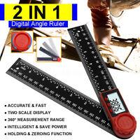 Digital LCD Winkelsucher Winkelmesser Edelstahl 200/300mm Lineal 360 Ab