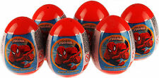 Set Of 6 Marvel Spiderman Surprise Gift Egg - Toy Sticker And Sweet