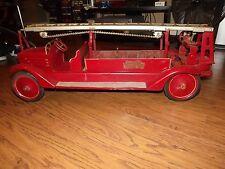 1920's KEYSTONE RIDE-ON PACKARD HEAVY PRESSED STEEL AERIAL LADDER 79 FIRE TRUCK
