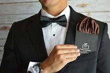 Mens Pocket Square Latest Stylish Italian Silk Puff For Party Weddings Brown