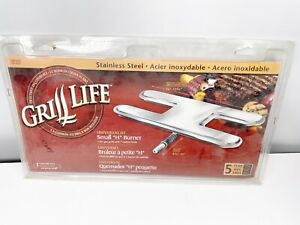 """NEW Grill Life Universal Fit Small """"H"""" Burner For Gas Grills With 1 Control Knob"""